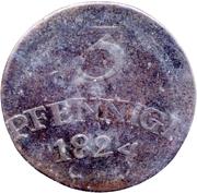 3 Pfennige - Karl August – reverse