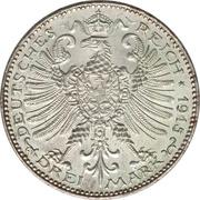 3 Mark - Wilhelm Ernst (Grand Duchy) – reverse