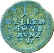1 Heller - Ernst August II Constantine – reverse