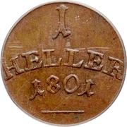 1 Heller - Karl August – reverse