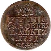 2 Pfennig - Friedrich III – reverse