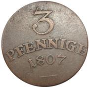 3 Pfennig - Carl August – reverse