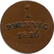 1 Pfennig - Karl August – reverse