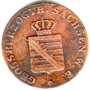 1 Pfennig - Karl Friedrich – obverse