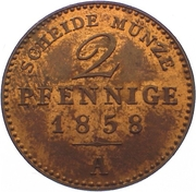 2 Pfennige - Carl Alexander – reverse