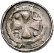 1 Pfennig (Sächsischer Hochrandpfennig) – reverse