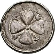 1 Pfennig (Sächsischer Hochrandpfennig) – obverse