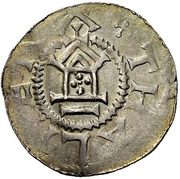 1 Pfennig - Otto III. – reverse