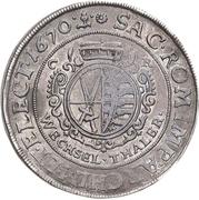 1 Thaler - Johann Georg II. (Wechseltaler) – reverse