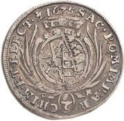 ⅙ Thaler - Johann Georg II. – reverse