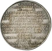 1 Thaler - Johann Georg II. (Death) – reverse