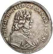 ⅙ Thaler - Johann Georg III. – obverse