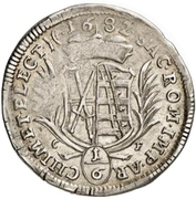 ⅙ Thaler - Johann Georg III. – reverse