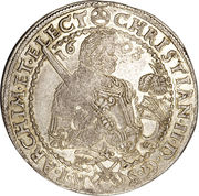 ½ Thaler - Christian II, Johann Georg I and August – obverse