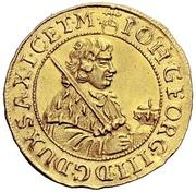 ½ Ducat - Johann Georg III. – obverse