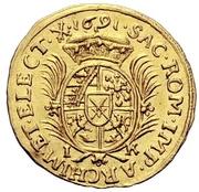 ½ Ducat - Johann Georg III. – reverse