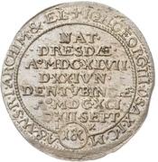 1 Groschen - Johann Georg III. (Death) – obverse