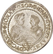 ½ Thaler - Christian II, Johann Georg I and August – reverse