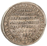 ⅓ Thaler - Johann Georg III. (Death) – obverse