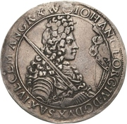 ½ Thaler - Johann Georg IV. – obverse
