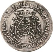 ½ Thaler - Johann Georg IV. – reverse