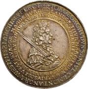 1 Thaler - Johann Georg III. (Death) – obverse