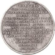2 Thaler - Johann Georg III. (Death) – reverse