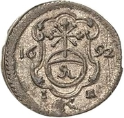 1 Pfennig - Johann Georg IV – reverse