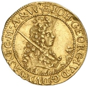 ½ Ducat - Johann Georg IV. – obverse