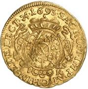 ½ Ducat - Johann Georg IV. – reverse