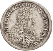 ⅓ Thaler - Johann Georg IV. – obverse