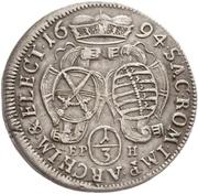 ⅓ Thaler - Johann Georg IV. – reverse