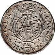 ⅔ Thaler, 1 Gulden - Johann Georg II – reverse