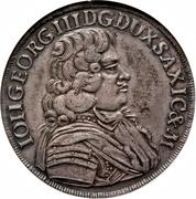 ⅔ Thaler - Johann Georg III – obverse
