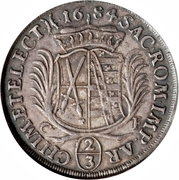 ⅔ Thaler - Johann Georg III – reverse