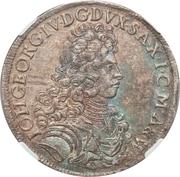 ⅔ Thaler - Johann Georg IV – obverse