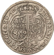 ⅓ Thaler - Friedrich August I. – reverse