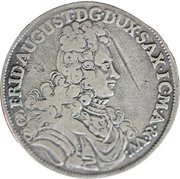 ⅔ Thaler - Friedrich August I – obverse