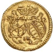 1 Pfennig - Johann Georg IV (Gold pattern strike) – obverse