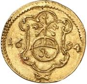 1 Pfennig - Johann Georg IV (Gold pattern strike) – reverse