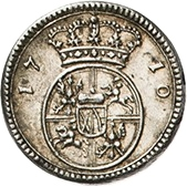 ½ Ducat - Friedrich August I. (Silver pattern strike) – reverse