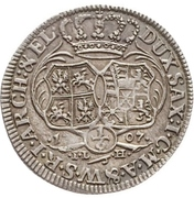 ⅙ Thaler - Friedrich August I. (Cosel-Sechstel) – reverse