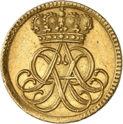 ½ Ducat - Friedrich August I. – obverse