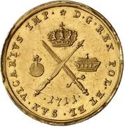 1 Ducat - Friedrich August I. (Vicariat) – reverse