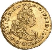 ¼ Ducat - Friedrich August II. (Vicariat) – obverse