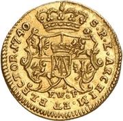 ¼ Ducat - Friedrich August II. (Vicariat) – reverse