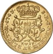 ½ Ducat - Friedrich August II. – reverse