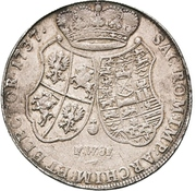 2 Thaler - Friedrich August II. – reverse