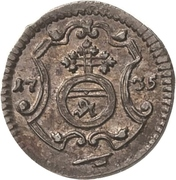 1 Pfennig - Friedrich August II – reverse