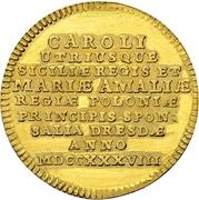 1 Ducat - Friedrich August II. (Marriage) – obverse